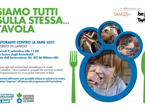 Domani la presentazione di 'Ristoranti contro la Fame', l'iniziativa per donare cibo ai più vulnerabili