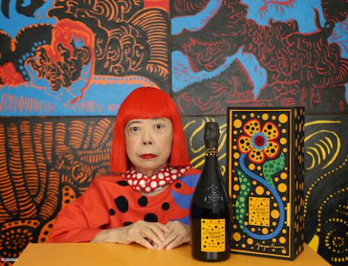 L'artista Yayoi Kusama decora la bottiglia della premium cuvée di Veuve Clicquot La Grande Dame 2012
